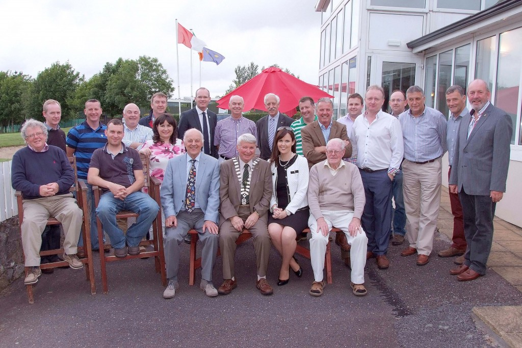 Members of the Carrigaline & District Lions Club at the handing over ceremony to Incoming President, Roy Jolly. (Picture: Adrian O'Herlihy)