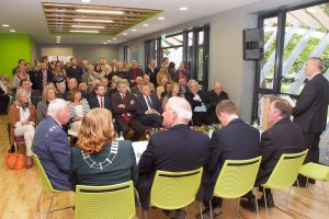 A section of the large attendance at the Official Opening of the Carrigaline Lions Youth Centre. (Picture: Adrian O'Herlihy) Sept 18th 2015