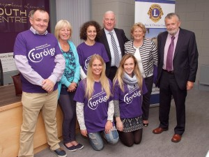 Members of Foróige pictured at the Official Opening of the Carrigaline Lions Youth Centre last week. Included are Derek McGreevey ; Carol McCarthy ; Mihaela Giriveva ; Declan O'Leary ; Catherine Coleman ; Fiachra O'Callaghan ; Diane Doherty and Chloe Sheehan. (Picture: Adrian O'Herlihy) Sept 18th 2015